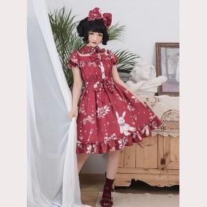 8425618c99 Magic Tea Party Chocolate Rabbit Sweet Lolita Dress OP (MP54)