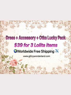 Lolita Dress + Accessory + Otks Lucky Pack