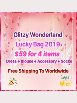 Glitzy Wonderland Lolita Lucky Bag $59 for 4 items