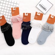 Golden Silk Lace Ankle Socks **Buy 2 Get 1 Free**