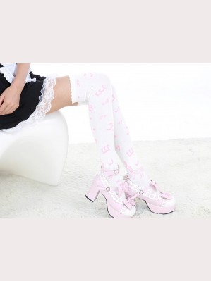 Music notes sweet lolita fashion otks socks