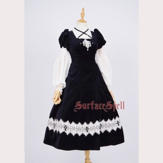Surface Spell Gothic St. Therese Lolita Dress One Piece OP
