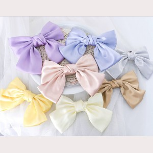 Pastel Color Bowknot Hair Clip - 1 pc (WIG43)