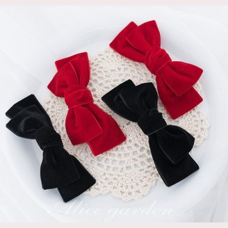 Girl's Group Bowknot Hair Clips - 1 Pair (WIG46)