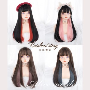 Rainbow Story Lolita Highlight Style Wig (WIG49)