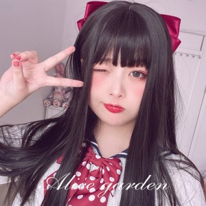 Yoshimi Lolita Nature Black Straight Wig (WIG67)