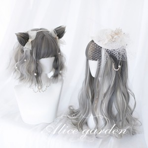 Cat Diary Lolita Wig & Cat Ears Hair Clips (WIG29)