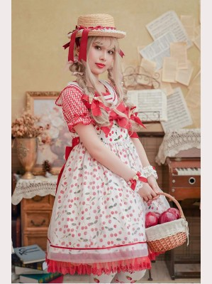 Chess Story Ice Cherry Sweet Lolita JSK & Blouse Set (CS1)