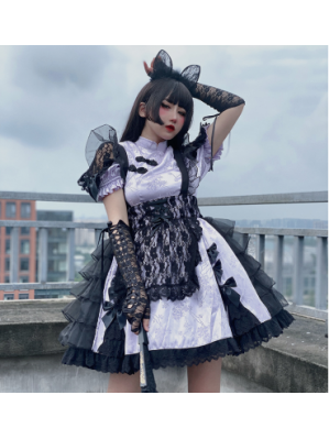 Diamond Honey Chinese Cat Qi Lolita Dress (DH230)