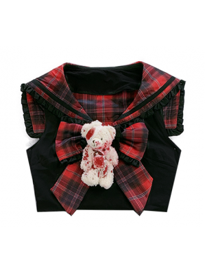 Diamond Honey Rebellious Bear Sailor Top (DH234)