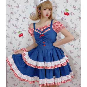 Diamond Honey Sweet Demin Lolita Dress JSK (DH243)