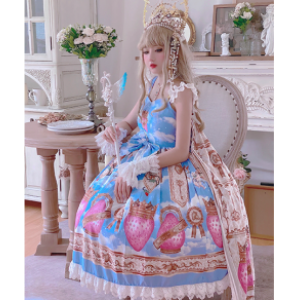 Diamond Honey French Royal Strawberry Lolita Dress JSK (DH246)