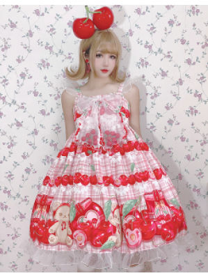 Diamond Honey Cherry Bear Lolita Dress JSK (DH247)