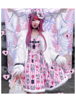 Strawberry Emergency Room Yandere Lolita Style Dress JSK by Diamond Honey (DH294)