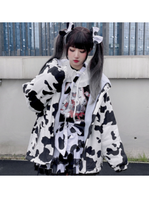 Cow Pattern Kawaii Jacket by Diamond Honey (DH301)
