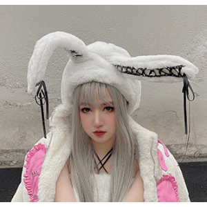 Fluffy Kawaii Fluffy Bunny Ears Hat by Diamond Honey (DH308)