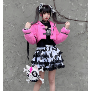 Cow Pattern Lolita Skirt by Diamond Honey (DH304)