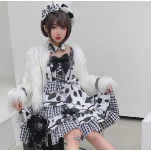 Cow Pattern Sweet Lolita Dress JSK by Diamond Honey (DH305)