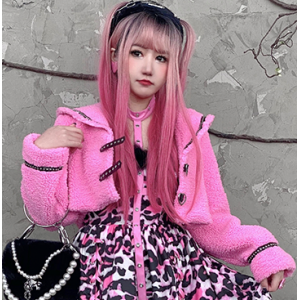 Pink Kawaii Punk Jacket by Diamond Honey (DH310)