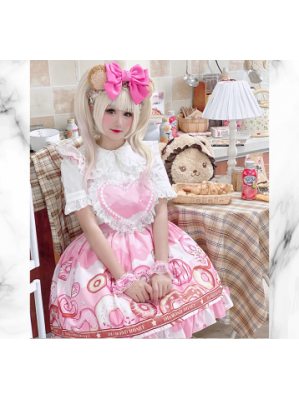 Diamond Honey Donuts Sweet Lolita Style Jumper Skirt (DH215)
