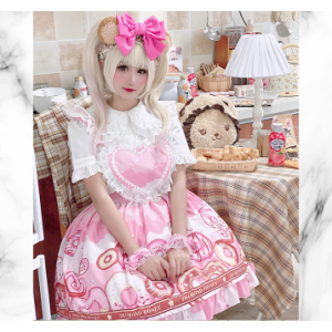 Diamond Honey Donuts Maid Sweet Lolita Dress JSK (DH215)
