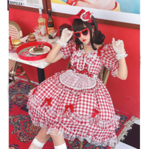 Diamond Honey Classic Plaid Lolita Style Dress Package (DH212)
