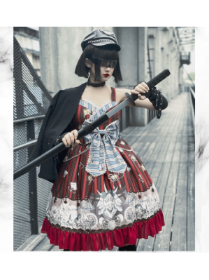 Diamond Honey Kendo Ninja Lolita Style Dress JSK (DH223)