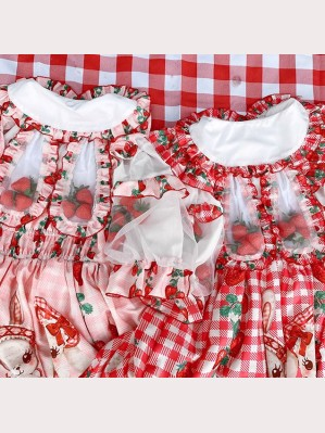 Diamond Honey Strawberry Picnic Rabbit Sweet Lolita Blouse (DH228)