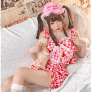 Diamond Honey Strawberry in Plaid Lolita Set (DH210)