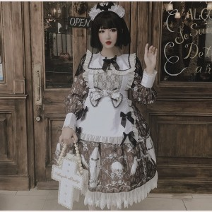 Clearance Sale ! Diamond Honey Dark Witch Dress & KC Set - color white size M (019)