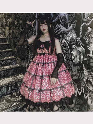 Diamond Honey Leopard Cat Lolita Dress JSK (IN185)