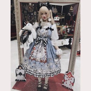 Diamond Honey Mourning Alice Gothic Lolita Dress JSK (DH191)