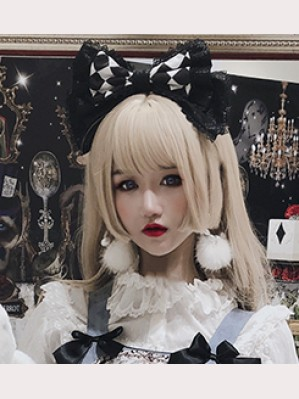 Diamond Honey Mourning Alice Gothic Lolita Headbow KC (DH192)