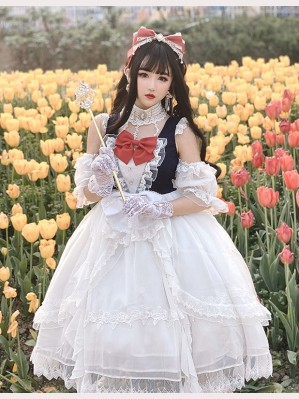 Diamond Honey Bride Snow White Classic Lolita Dress OP (DH204)