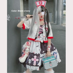 Diamond Honey Sweet Cool Girl Kawaii Gothic Lolita Dress JSK (DH203)