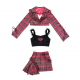 Diamond Honey Punk Style Plaid Outfit (DH282)