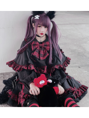 Diamond Honey Gothic Lolita Little Devil Cloak & Skirt Set (DH283)
