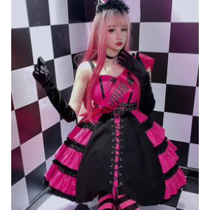 Sweet Pink Gothic Lolita Corset Dress JSK by Diamond Honey (DH284)
