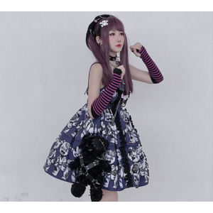 Diamond Honey Zombie Teddy Gothic Lolita Style Dress JSK (DH271)