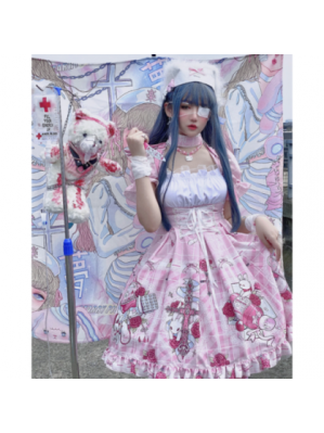 Diamond Honey Yandere Nurse Lolita Dress OP (DH275)