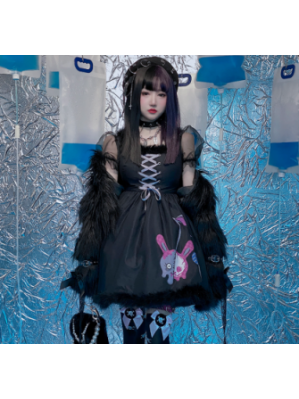 Diamond Honey Cherry Zombie Gothic Lolita Style Dress (DH276)
