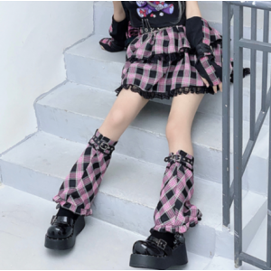 Diamond Honey Darkening Strawberry Bear Lolita Leg Warmers (DH260)
