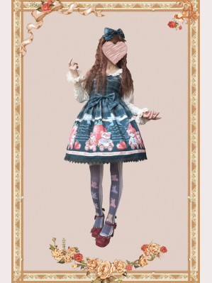 Infanta Strawberry Bear Lolita Dress JSK (IN913)