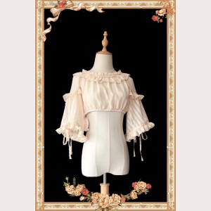Infanta Fan-Shaped Sleeves or Puff Sleeves Lolita 2-Ways Blouse (IN925)