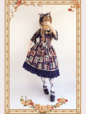 Infanta Painting Frame Lolita Dress JSK (IN926)