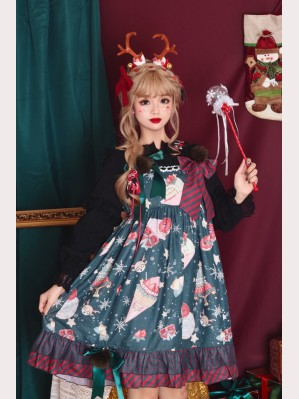 Infanta Christmas Donuts Sweet Lolita Dress JSK (IN928)