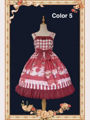 Infanta Sweet / Classic Lolita Style Prints Dress & KC Set (IN887)