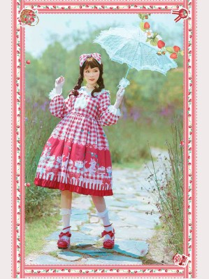 Infanta Rabbit, let's have a picnic Lolita Dress OP (IN858)