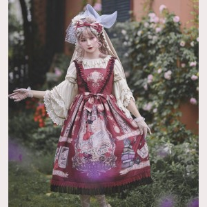 Infanta Mother Goose Nursery Rhymes Classic Lolita Dress JSK (Long Version) (IN869)