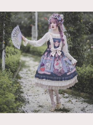 Infanta Mother Goose Nursery Rhymes Classic Lolita Dress JSK (IN870)